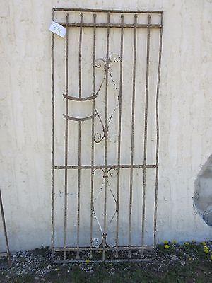 Antique Victorian Iron Gate Window Garden Fence Architectural Salvage Door #374 5