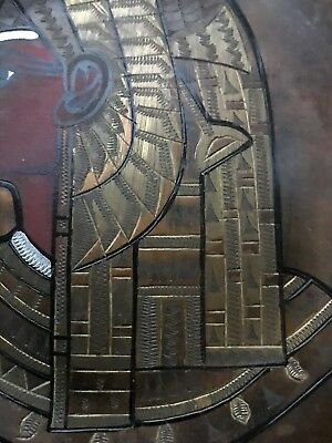 Pair of Vintage Copper Brass Silver Egyptian Plates - wall hangings 8