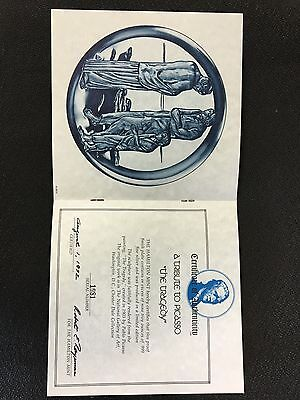 """Picasso The """"Tragedy""""  post 1940 - over 9oz of .999 Silver - Franklin Mint 4"""