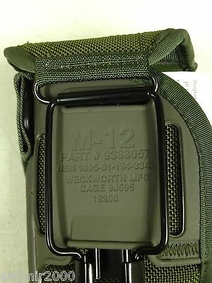 M12 Pistol Holster-US Military Issue-MFG by Weckworth-OD GreenNew in Bag