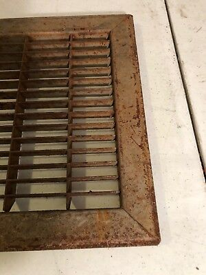 N6 Antique Sheet Metal Cold Air Return/heating Grate 3