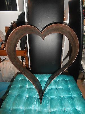 Antike, sehr große Schauform - Weißblech - Herz - 3
