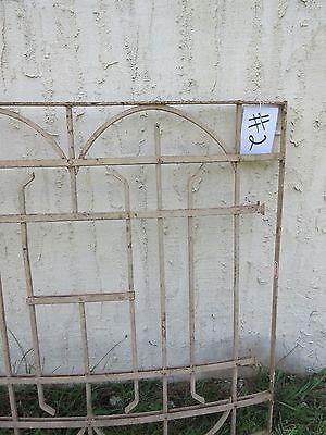 Antique Victorian Iron Gate Window Garden Fence Architectural Salvage Door #2 2