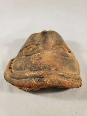 Beautiful Antique Small Pre-Colombian Face Motif 5