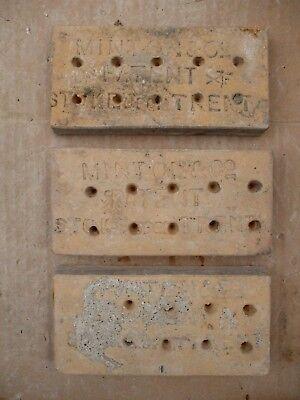 "Antique Victorian Gothic Minton Encaustic Floor Border Tile 6"" x 3"" RARE 1 of 36 7"