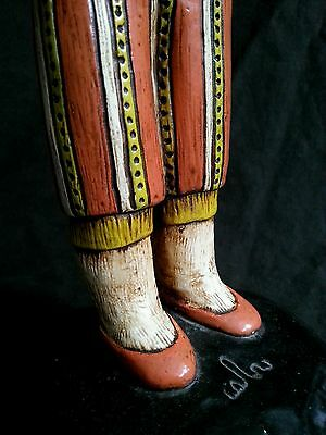 """Vintage hand made chalkware figurines in national costumes 10.5"""" S.America Euro 10"""