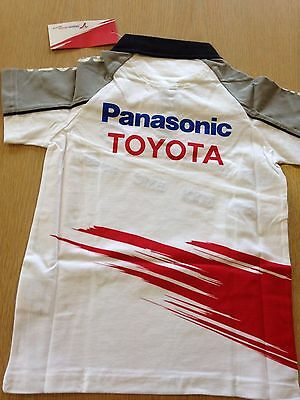 Toyota Official Team Kids Polo shirt Pansonic TOYOTA  Formula One Racing TeamF1
