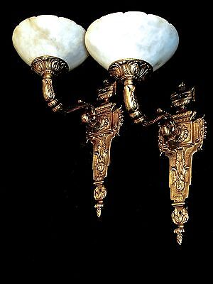 wall lighting fixtures solid bronze and real alabaster made by artist 5