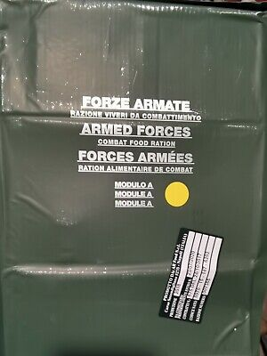 MRE Italian  Military Food ration survival camping Pack MEAL fishing airsoft