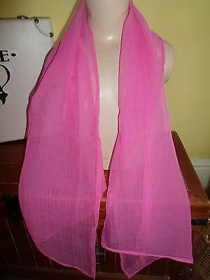 1 NEW Colourful Mixed Fibre Ladies Scarf PRETTY PINK ~ Xmas Gift Idea  #73