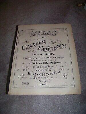 1882 Outline & Index Map of Elizabeth NJ E Robinson & R H Pidgeon A H Mueller 4