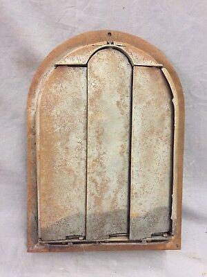 Antique Cast Iron Arch Decorative Heat Grate Register Stars 8X12 Dome Vtg 28-19C 4