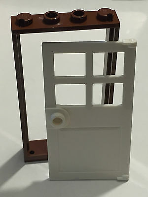 Cadre Porte ROUGE RED Frame Door 1x4x6-4550015 LOT X2 Lego 60596
