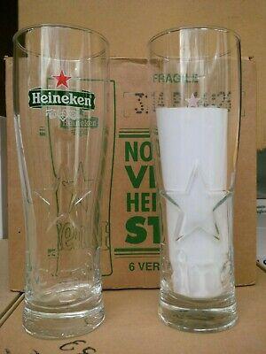 6 NOUVEAUX VERRES A BIERE HEINEKEN STAR 50 CL NEUFS 12 SOUS BOCKS !!!!