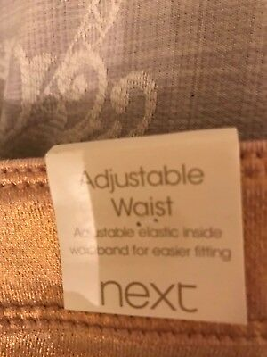 BNWT NEXT Girls PINK SPARKLY STRETCH PARTY JEANS TROUSERS 15 years 4