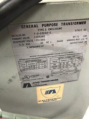 General Purpose Transformer Type 2 Enclosure Catalog No T-3-53044-S SE ID-DY-5 7