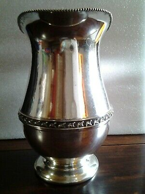 "Vintage Signed ""SHEETS ROCKFORD CO"" 305 Silver Plate Beverage Water Pitcher 7"