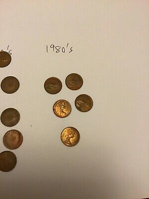 22 British 1/2 Pence Coins : 1970's & 80's. Various Quality. 4
