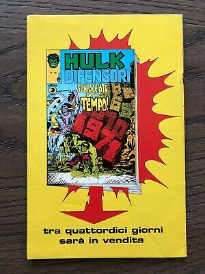 HULK E I DIFENSORI N. 11 CORNO Ottimo + 2