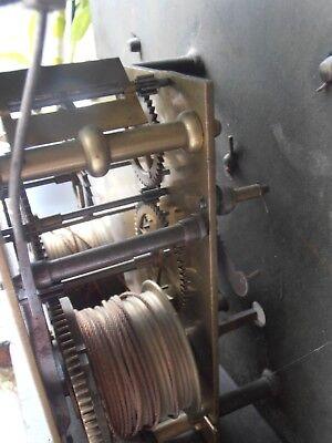 Antique 8 Day Brass Arch Dial Oak Grandfather Longcase Clock ALEX GORDON DUBLIN 10