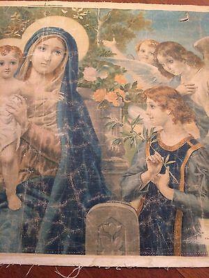 Luigi Morgari Fresco Painter (Canvas) Mary Holding Baby Jesus and Joyous Angels 10