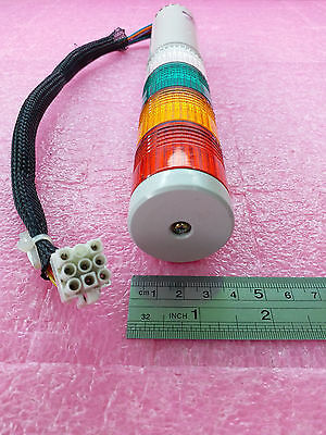 Patlite LCE-TFBW Tower Signal Light 24V AC/DC 50/60Hz 0.2A Red Amber Green White