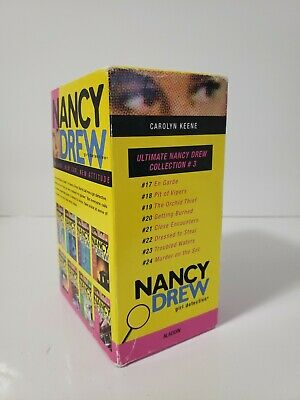 NANCY DREW Girl Detective book set #17-24 5