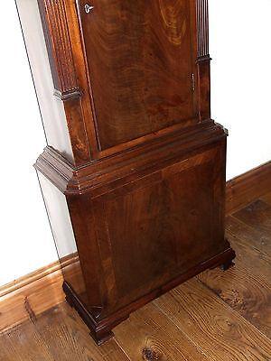 Antique Mahogany Halifax Moon Longcase Grandfather Clock by Thomas DEAN of LEIGH 10