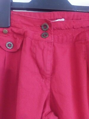 Girls Red Trousers Age13 New Look #U 2