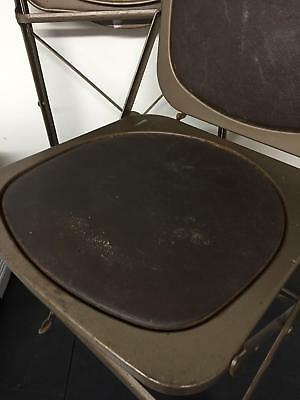Steel Vintage 50s 1950s Folding Utilitarian Chair Chairs 2