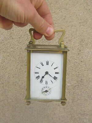 Antique French Bronze Carriage Clock 1900s - working 2