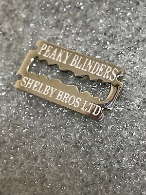 Shelby Brothers Peaky Blinders Enamel Pin Badge - Razor Blade Design Wear On Hat 3