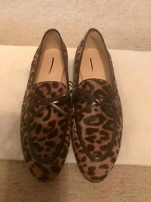 b6981923a89 ... J.crew Academy Loafers In Leopard Calf Hair Size 8