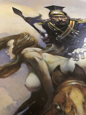 FRANK FRAZETTA Flashman On The Charge FANTASY POSTER PRINT 23x15 Vintage Color 3