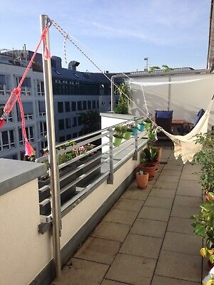 Hängemattengestell Mast Edelstahl Mast 60x2mm  195 cm