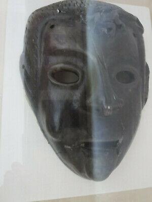 Antique Roman Greek Framed Clay Mask 3