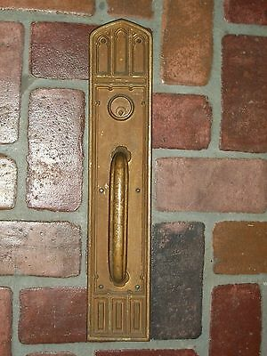 "Antique Reading & Co. Gothic Pull Handle Door plate 20"" x 4"""