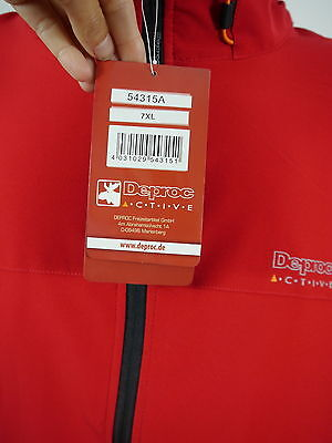+DEPROC Active Hr.leichte Softshelljacke 54315A Stretch Kapuze rot Gr.7XL NEU