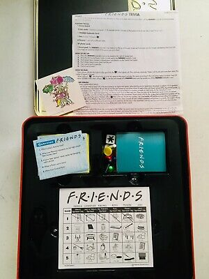 Friends TV Show 2003 Trivia Game Picture Cards in Collectible Red Tin COMPLETE 3