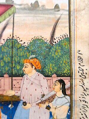 18Th-19Th C Antique Mughal (India) Miniature Illuminated Manuscript Opaque W/C 9