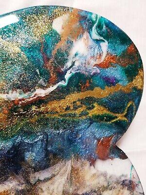 "12"" Resin Heart on Wood - Resin Art - Abstract Art - Resin Painting 4"