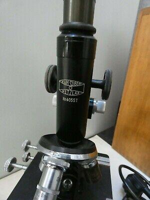 (4816) Altes Mikroskop W u. H. Seibert Wetzlar Nr. 40557 mit Zubehör 4