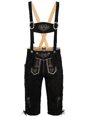 055b624136852 ... Homme Pantalon en Cuir Traditionnel avec Bretelle au Genou Costume  Folklorique 4