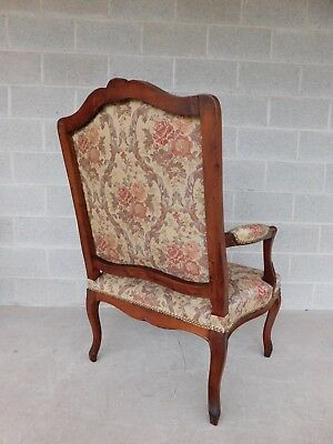 Quality Vintage French Louis XV Style Fireside Accent Arm Chairs  - a Pair 11