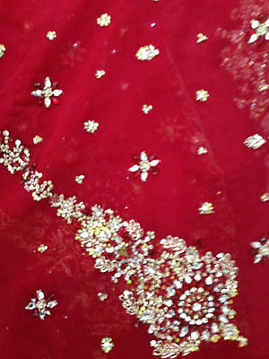lovely maroon red bridal lengha - indian - bollywood new with tags size 12 - 16 6