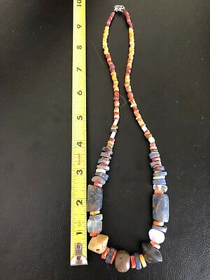 Pre Columbian Chavin/Moche/Chimu Chaquira Beads Necklace Peru Authentic! 2