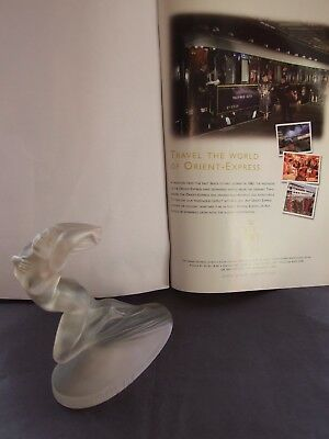 French Lalique Glass Car Mascots,hood,desk Ornaments,trophies,paperweights Book