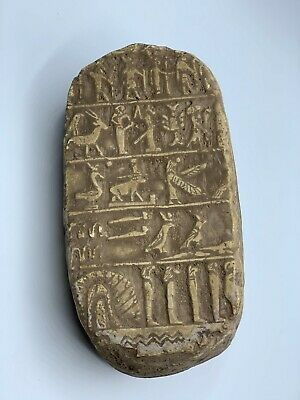 ANCIENT EGYPTIAN ANTIQUES SCORPION Pharoah GOD Stela Relief Carved STONE BC 2