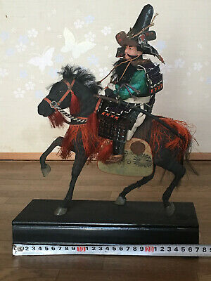 32cm Japanese Antique SAMURAI Armor YOROI Doll MUSHA NINGYO with Horse 8