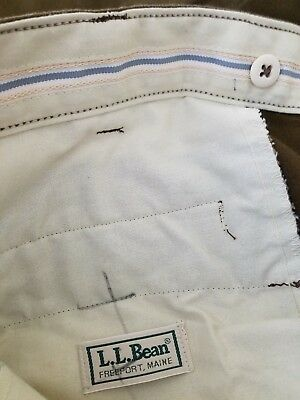 Vintage LL Bean Upland Briar Proof Game Hunting Work Pants Mens 32x27 Reinforced Cotton Polyurethane USA